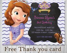 Princess Sofia Invitation Sofia the firts by MayPartyPrintables