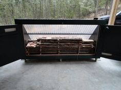 There is alot of information on line about solar kilns and I am fairly certain I hit most of them in order to plan this. This kiln is outside dimension. Wood Mill, Lumber Mill, Solar Kiln, Rough Wood, Outdoor Furniture, Outdoor Decor, Woodworking Tools, Home Projects, Shop Organization