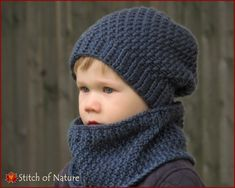 The Portland Slouchy Hat And Cowl Set Crochet Pattern