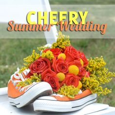 A Cheery Summer Wedding with Orange and Yellow Wedding Details