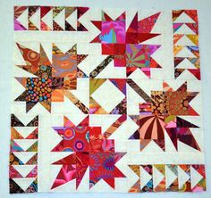 Northern Neighbors quilt with Kaffe Fassett fabric -Workshop - Michelle Renee Hiatt