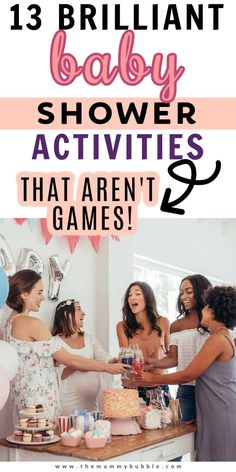 Baby shower activities that aren't games Bany Shower Games, Baby Shower Party Games, Baby Shower Activities, Baby Shower Fun, Baby Party, Infant Activities, Shower Tips, Shower Ideas, Activities For Girls