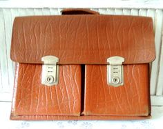 Swedish Vintage Leather Handle Bag Satchel Messenger