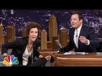 Kristen Wiig stops by 'Tonight Show' as boy bander Harry Styles