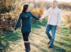 Longwood Gardens fall engagement session. Photos by Jordan Brian Photography.
