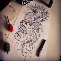 Finally finished  #mendi #mendidesign #mandala #mandalatattoo #tattooideas #drawing #sketch #inked #tattoodesign #lace #femininetattoo #lion #liontattoo #liondrawing #lacetattoo #legtattoo #crown #lionking #newquay #cornwall #fourfingers #pattern #atlanticcoasttattoo #ink #tattoo