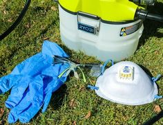 Before using a chemical sprayer on your aluminium siding, make sure you have all the safety gear you'll need! Garden Hose, Garden Beds, How To Clean Aluminum, Seattle Rain, Protective Gloves, Plastic Sheets, Small Gardens, Outdoor Projects, Woodworking Plans