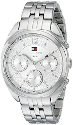 45721f301f53 Amazon.com  Tommy Hilfiger Women s 1781485 Analog Display Quartz Silver  Watch  Tommy Hilfiger  Watches