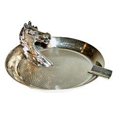 hermes silver ashtray, 1960s