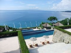 View of the Indian Ocean from Amankila Bali