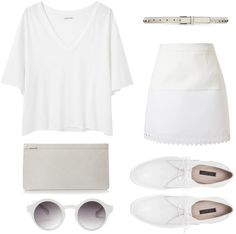 """""""White Noise"""" by natalyajohnson ❤ liked on Polyvore"""