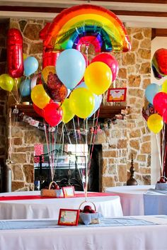 Balloons at a Wizard of Oz Birthday Party! See more party planning ideas at CatchMyParty.com!