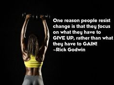 """Don't give up. Even thought this is """"fitness inspired,"""" it applies to the Gutsy approach to life, too! Never forget these words."""
