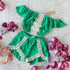 Moonrise Romper Set - The perfect romper for your next event or for your tropical honeymoon. www.spool72.com #twopiece #boho