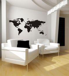 Wandgestaltung - Wandtattoo Weltkarte Nr. 88 Größe: 180 x 84 cm (B - ein Designerstück von wandmotiv24 bei DaWanda