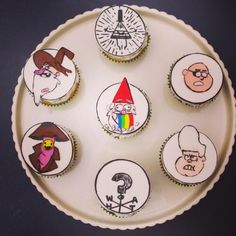 Gravity Falls cupcakes (supporting characters)  #Disney #GravityFalls #cupcakes