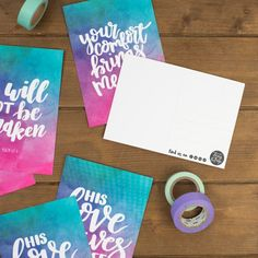 Set of 6 Watercolour Christian Postcards Postcard Sets Encouraging Bible Verses, Bible Encouragement, Psalm 94 19, Pop Collection, Happy Mail, Christian Gifts, Brighten Your Day, Postcards, Lettering