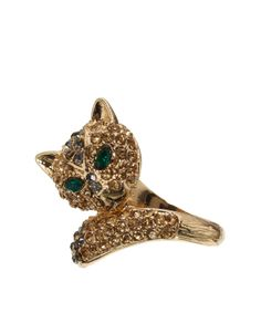 Calista Crystal Cat Ring