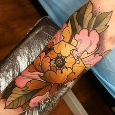 20 Captivating Sleeve Tattoos for Women: A sleeve tattoo of a blooming flower Tattoos For Women On Thigh, Sleeve Tattoos For Women, Tattoo Sleeve Designs, Tattoos For Guys, Japanese Tattoos For Women, Small Tattoos, Tattoo Sleeves, Unique Tattoos, Tattoo Planets
