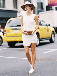 How to Still Wear a Sweaterdress During Summer via @WhoWhatWear