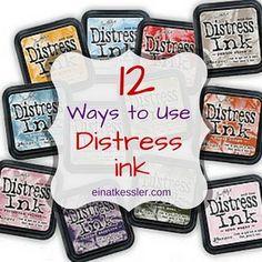 12 Ways to Use Distress Inks   Einat Kessler   Bloglovin'
