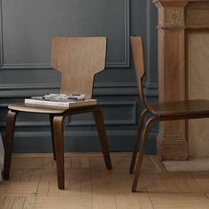 Stackable Chair (Kitchen/Two Sets  of 2) | West Elm