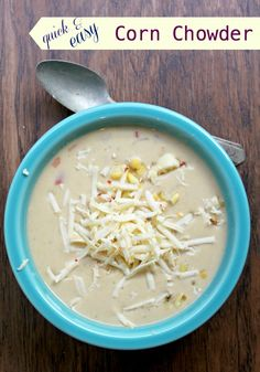 Quick and Easy Corn Chowder -- from Jewhungry, the blog! #vegetarian #kosher