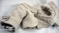 Maricopa Stamper's linen Penny Lane Jacket by Liberty Jane Clothing, with a vintage cotton print lining -- a new FAV pattern!!!