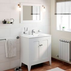 Buy online cheap Shalon Classic Vintage 32 Single Bathroom Vanity Set with Mirror Vintage Bathroom Vanities, Bathroom Vanity Cabinets, Boho Bathroom, Bathroom Trends, Single Bathroom Vanity, Bathroom Updates, Bathroom Designs, Modern Bathroom, Small Bathroom