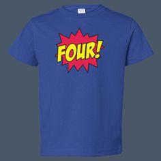 Comic Age Four kids t-shirt by airwaves custom tees