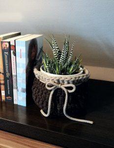 handmade crochet basket- ręcznie robiony koszyk na szydełku