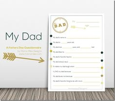 FREE Printable Questionaire for Dad's! - Blessed Beyond A Doubt