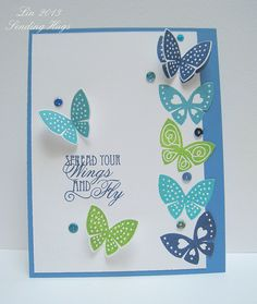 Just when you think you've seen enough butterfly cards, you see one that makes you fall in love with butterfly cards all over again!