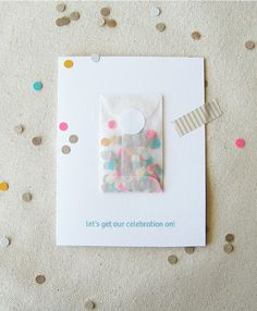 love this idea for save the dates, much better than just throwing random confetti in an envelope to get all over the floor :)
