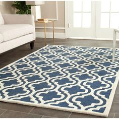 Safavieh Cambridge Navy/Ivory 5 ft. x 8 ft. Area Rug - CAM132G-5 - The Home Depot