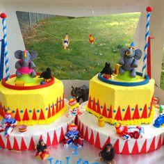 Circus birthday cake Frotta's Custom Cakes