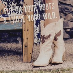 "Idyllwind Fueled by Miranda Lambert eagle cowboy boots. Vintage inspired and hand crafted. Now available at select trunk show locations - for store locations please visit Idyllwind.com ""Put on your boots and chase your wild""."