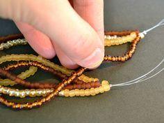 How to make a twisted strand bracelet