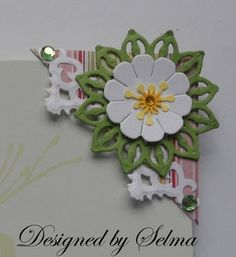 Selma's Stamping Corner and Floral Designs: Joan's Gardens Weekly Challenge Paper Bookmarks, Corner Bookmarks, Cross Stitch Bookmarks, Handmade Bookmarks, Handmade Cards, Creative Bookmarks, Create A Bookmark, Heart Bookmark, Bookmark Ideas
