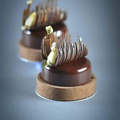 New Chocolate Desserts Fine Dining Cakes Ideas - doceria - Gourmet Desserts, Fancy Desserts, Plated Desserts, Just Desserts, Gourmet Recipes, Dessert Recipes, Mini Cakes, Cupcake Cakes, Beautiful Desserts
