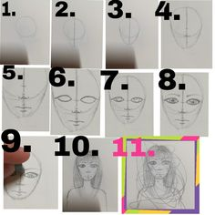 How to draw head and face