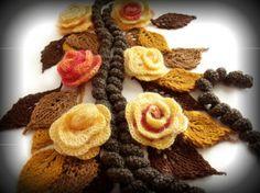 lariat crochet scarf 100 Unique Crochet Scarves