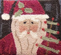 Happy Christmas St. Nick! Designed by Hooked on Rugs.