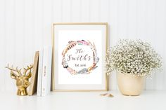 Custom last name print/ feather print/ last name print/ engagement gift/personalized print/personalized gift/personalized christmas gift by CatePaperCo on Etsy https://www.etsy.com/listing/477560576/custom-last-name-print-feather-print