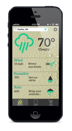 WeatherWear App by Mary McElveen, via Behance