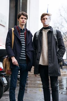 Check out the latest street fashion from Paris men's fashion week at the gallery, where we've rounded up 21 of the best street style looks from day See Boy Fashion, Paris Fashion, Mens Fashion, Fashion Outfits, Fashion Ideas, Mode Outfits, New Outfits, Simple Outfits, Men Street