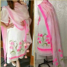 those tassels tho Indian Attire, Indian Wear, Indian Outfits, Designer Punjabi Suits, Indian Designer Wear, Patiala, Salwar Kameez, Salwar Suits, Embroidery Suits Punjabi