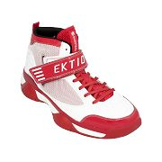 Ektio Post Up White/Red Ankle Support Basketball Shoes