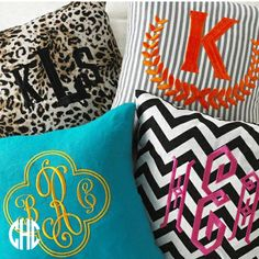 Definitely having monogrammed pillows in my home :)
