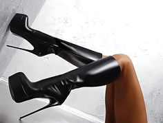 Made in Italy Leather Knee High Heels Boots. All the trends you need in your closet this season!